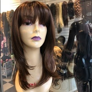 Accessories - Copper brown mix 4/27/30 bangs skin top wig layers